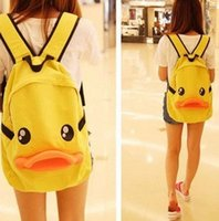 Wholesale 3d animal backpacks - 3D Cute Duck Backpack School Korea Handbag Satchel Travel Bag Casual Shoulder Gift teenage boys and girls 171225005