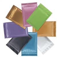 sacos de zíper de alumínio venda por atacado-Saco de plástico de tamanho múltiplo Mylar Folha de alumínio Zipper Bag para armazenamento de alimentos a longo prazo e colecionáveis proteção dois lados coloridos