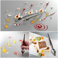 Wholesale diy gadgets resale online - DIY Stainless Steel Chocolate Spoon DIY Pencil Piping Spoons Cake Decoration Baking Pastry Tools Accessories Kitchen Gadget