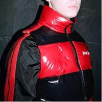 moda chaleco abajo al por mayor-18FW MCL-PALM ANGELS chaleco de rayas negro y rojo Retro Street Fashion Casual hombres y mujeres pares de chaleco de Down HFSSJK039