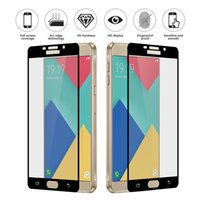 Wholesale Silk Glasses Box - For iPhone X Full Cover Tempered Glass Silk Printed Full glue Screen Protector For Galaxy S7 J7 Prime J2 pro 2018 A710 A8 With Retail Box