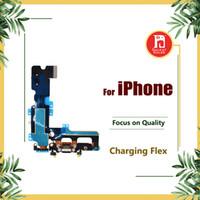 connecteur iphone usb dock achat en gros de-Connecteur de dock Port de chargement USB Casque Jack audio Antenne Mic Flex pour iPhone 5 5s 5c SE 6 6s 7 8 Plus X