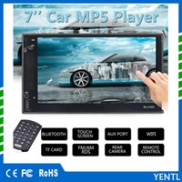 Wholesale rear dvd player - Free shipping YENTL 2 Din Car Video Player Car DVD 7 inch Bluetooth FM Radio MP5 Player