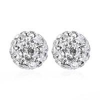 Wholesale models diamond studs resale online - S925 sterling silver diamond earrings light luxury diamond stud earrings creative silver jewelry high quality explosion models