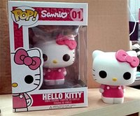 Wholesale Toy Cats For Kids - LilyToyFirm FUNKO POP Cute 10cm HelloKitty PVC Action Figure Toys KT Cat Toy Christmas Gift For Children Collectible Toy