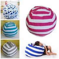 Wholesale Fabric Couches - 5 Colors Beanbag Chair Plush Toys Storage Bean Bags Kids Bedroom Play Mats Portable Couch Cushion Creative Clothes Storage Bag CCA8928 20pcs