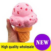 Wholesale anti stress toys resale online - Squishy ice cream cm high quality Jumbo Slow Rising Soft Oversize Phone Squeeze toys Pendant Anti Stress Kid Cartoon Toy Decompression Toy
