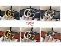 geschenke machen für männer großhandel-Top Classic Fashion Gürtel G012, Designer-Design, Männer und Frauen Wahl, Lederherstellung, verschiedene Farben, Frei Fracht + Box Geschenktüten