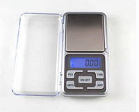 baterias para báscula al por mayor-Básculas de bolsillo digitales Mini balanza de bolsillo electrónica 200g 0.01g Báscula de diamante balanza de joyas escala Pantalla LCD con baterías de paquete al por menor