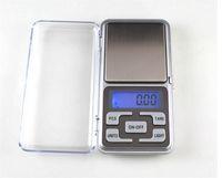 baterias para balança venda por atacado-Balanças de Bolso Digitais Mini Balança de Bolso Eletrônico 200g 0.01g Jóias Escala de Diamante Escala de Equilíbrio Display LCD com Pacote de Varejo Baterias