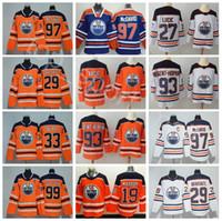 cam frau großhandel-Männer Frauen Jugend Edmonton Oilers Trikots 97 McDavid 99 Wayne Gretzky 29 Leon Draisaitl Mailand Lucic Cam Talbot Nugent-Hopkins Orange Hockey