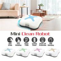 Wholesale floor sweepers - USB Rechargeable Smart Cleaning Robot Auto Robotic Vacuum Cleaner Floor Sweeper HF050RD