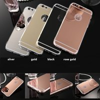Wholesale cheap phone cases online - Cheap price TPU mirror case For iphone8 iphone7 Mirror case Electroplating Chrome Ultrathin Soft TPU Phone Case back Cover SCA393