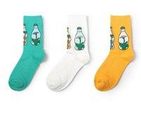botas de invierno japonesas al por mayor-Calcetines de mujer de alta calidad Nuevo Japonés Otoño e Invierno Algodón Color sólido Retro Sen Boots Calcetines cortos de tubo