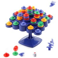 Wholesale tree blocks resale online - Children Balance Tree Puzzle Intelligence Colorful Building Blocks Toy Learning Education Plastic Developmental DIY Desktop Games bl W