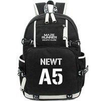 Wholesale a5 boxes for sale - Group buy Newt backpack The Maze Runner school bag A5 daypack Hot laptop schoolbag Outdoor rucksack Sport day pack