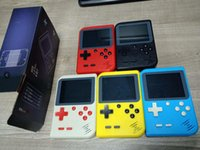 Wholesale portable games consoles for sale - 2018 New Upgrade RS Portable Mini Handheld Game Console gift Bit Inch Color LCD Color Game Player can store games free DHL