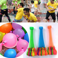 Wholesale fill water balloons - Latex Water Balloon Balls Water Bomb Pump Rapid Injection Summer Beach Games Water Sprinking Ballons toys