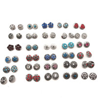 Wholesale 12mm earring - Wholesale Pairs Assorted 12mm Chunk Ginger Snap Buttons Charm Fit For Ginger snaps jewelry Earring bracelet etc