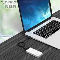 msata mini toptan satış-ORICO C Tipi Mini mSATA SSD Muhafaza Alüminyum 5 Gbps Laotop Masaüstü için Yüksek Hızlı HDD Durumda Windows için / Linux / Mac Vida Sabitleme