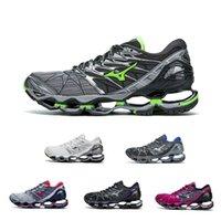 Wholesale wave shoes - Mizuno Wave Prophecy 7 Running Shoe Buffer fashion Men's women Originals Top Quality Sport Sneakers grayish violet Size 36-45