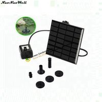 Wholesale Pv Solar Systems - 7V 1.2W Home Flower Garden Automatic Solar Water Kits Mini PV Landscape Fountain Fish Tank Water Cycle System Solar Panels