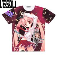 Wholesale top anime cosplay costumes - Anime Hidan no Aria Cosplay Full Graphic 3D T-shirts Kanzaki H. Aria Print Men T shirt Tees Tops Short Sleeve Costume