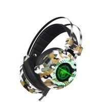 auricular led para mp3 al por mayor-El más nuevo auricular estéreo V2 Gaming Headset gamer LED Light Hi-Fi Headphones MP3 con micrófono para computadora PC fone de ouvido