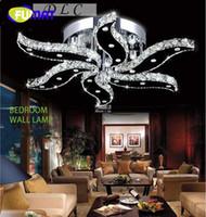 ingrosso modern home bedding-FUMAT New moderno lustro luci di cristallo design per soggiorno camera da letto illuminazione domestica decorazione plafoniere a led