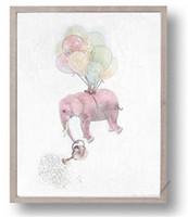 ingrosso definizione-Elefante astratto Home Wall Art Pittura ad alta definizione Famiglia Decor Spray Paintings Stampa immagini da parete Poster No Frame 5jc gg