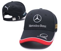 Wholesale car logo baseball caps resale online - New Arrival Brand Designer Cotton M B Power Logo Adjustable Embroidery Snapback BMW benz Car Baseball Hat Unisex Racing Baseball Cap