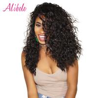 insan saç atkı satın al toptan satış-AliBele Malezya Su Dalga İnsan Saç Dokuma Paketler 100G / PC Doğal Siyah Saç Atkı 3/4 Bundle olmayan remy uzatma satın alabilirsiniz