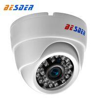 video gözetleme kubbesi toptan satış-BESDER 2.8 MM Geniş Açı IP Kamera 720 P 960 P 1080 P P2P H.264 Onvif RTSP 48 V POE Küçük CCTV Kapalı Dome Gözetim Video kamera