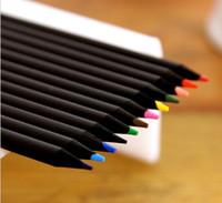 Wholesale garden tool art resale online - black wood Painting Pens Secret Garden coloring pencils baby Graffiti pencils Colored pencil Creative Writing tools colors pencils
