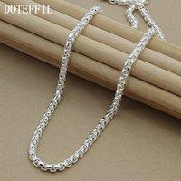 925 link halsketten großhandel-Halskette Kette Silber Halskette 925 Silber Mode Sterling Schmuck Gliederkette