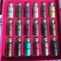 regalos multipropósito al por mayor-2018 Maquillaje Belleza Creaciones Brilla multiusos Polvo suelto con brillo 18 colores Caja de regalo Sombreador de ojos DHL envío