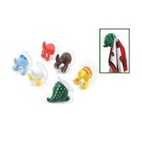 lustiger schlüsselhalter großhandel-Dekorative Cartoon Niedlichen Tier Schwanz Form Gummi Starke Saugnapf Haken Schlüssel Handtuchhalter Halter Lustige Wand Saugen Behänge 0 95jm Z