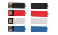 1gb usb flash sürücü 16gb toptan satış-Kağıt Klip Özel Mini USB Flash Sürücü ile OEM Logo 512 mb 1 gb 2 gb 4 gb 8 gb 16 gb 32 gb 64 gb