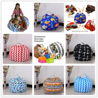 Wholesale 32 Doors - 18 inch 32 color Kids Storage Bean Bags Plush Toys Beanbag Chair Plush Toys Organizer Portable Clothes Storage Bag 300Pcs