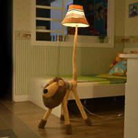 Wholesale Floor Stand Lamps - Floor Stand Lamp Decoration Fabric Handmade Animal Lion Monkey Poodle Dog Sheep Antelope Kids Floor Light for living room