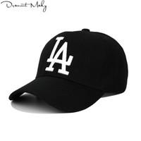 hip hop mode gorras groihandel-Neue Mode LA Baseball CapsStickerei Hip Hop Knochen Hysteresenhüte für Männer Frauen Einstellbare Gorras Unisex Cap Großhandel