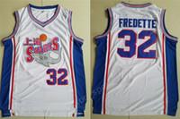 ingrosso pullover di pallacanestro-New Style 32 Jimmer Fredette Shanghai Sharks maglie Uomini University College Movie Basket Fredette Jersey Team bianco cucita vendita