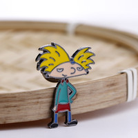 Wholesale character jackets for kid for sale - Group buy Cartoon Character Cool Boy Brooches Pins Enamel Brooch Yellow Hair Boy Pins Badge Jacket Cloth Jewelry Gift for Girl Boy Kids