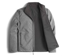 Wholesale womens grey winter coats - 2018 New Winter Mens SoftShell Warm Fleece Jackets Coats Fashion Outdoor Casual Womens Kids Ski Down Windproof Jackets Black Grey Size S-XXL