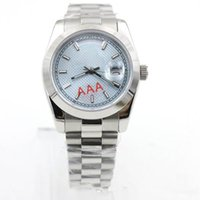Wholesale mens crystal wrist watches resale online - Hot sell Luxury Mens Watch Day Date Sapphire Crystal President Stainless Steel Men Watches Automatic Mechanical Male Wrist Watch