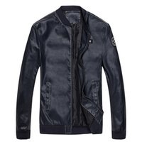 Wholesale Jaqueta Couro Masculino - Wholesale- 2017 Motorcycle Leather Jackets Men Autumn Spring Jaqueta de Couro Masculino Leather Clothing Male Casual Coats Brand clothing