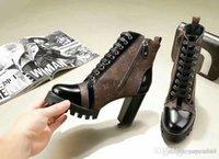 botas de bezerro borla venda por atacado-Melhor Designer De Luxo Mulheres Botas de Salto Médio Outono Inverno Sapatos Mulher Moda Quente Dedo Do Pé Redondo Botas de Meados de Bezerro Tamanho 35-40