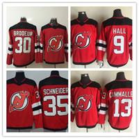 2f310ac23 2017-2018 Season AD 9 Taylor Hall 30 Martin Brodeur 13 Nico Hischier 35  Cory Schneider Red Stitched New Jersey Devils Hockey Jerseys