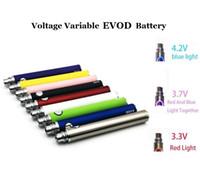 Wholesale ecig vv - EVOD VV Variable Voltage Battery 650mAh 900mAh 1100mAh Evod Twist eGo Ecig Batteries for MT3 CE4 CE5 Atomizer