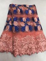 lavanda francesa al por mayor-Comercio al por mayor el último material francés neto del cordón Tela africana neta del cordón de la alta calidad con el cordón africano nigeriano de la boda del africano